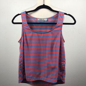 Striped Tank Blouse by Chloe K